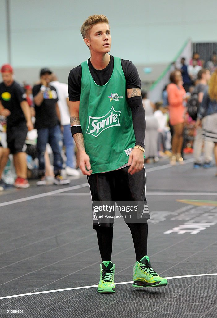 Singer Justin Bieber attends the Sprite Celebrity Basketball Game during the 2014 BET Experience At L.A. LIVE on June 28, 2014 in Los Angeles, California.