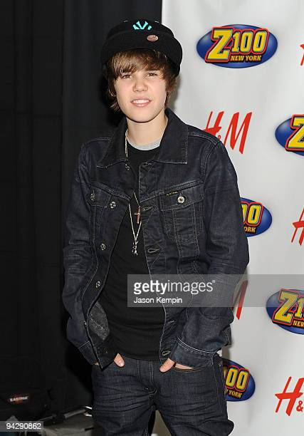 Singer Justin Bieber attends Z100's Jingle Ball 2009 at Madison Square Garden on December 11 2009 in New York City
