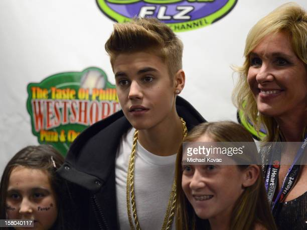 Singer Justin Bieber backstage at 933 FLZ's Jingle Ball 2012 at Tampa Bay Times Forum on December 9 2012 in Tampa Florida