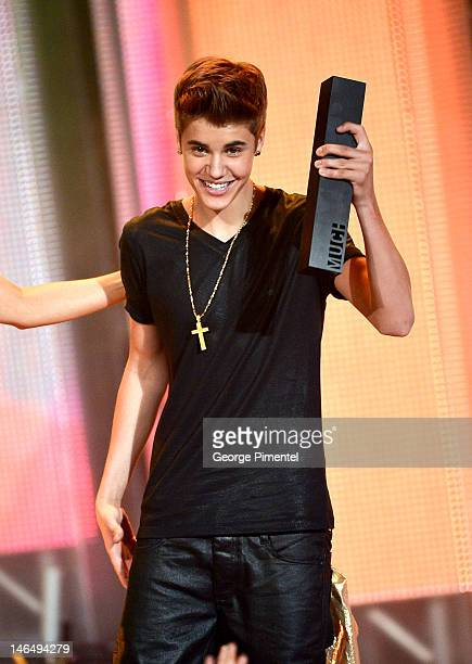 Singer Justin Bieber during the 2012 MuchMusic Video Awards MuchMusic HQ on June 17 2012 in Toronto Canada
