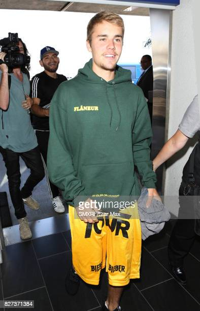 Singer Justin Bieber is seen on August 7 2017 in Los Angeles California