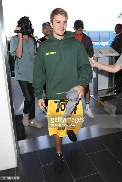 Singer Justin Bieber is seen on August 7 2017 in Los Angeles California