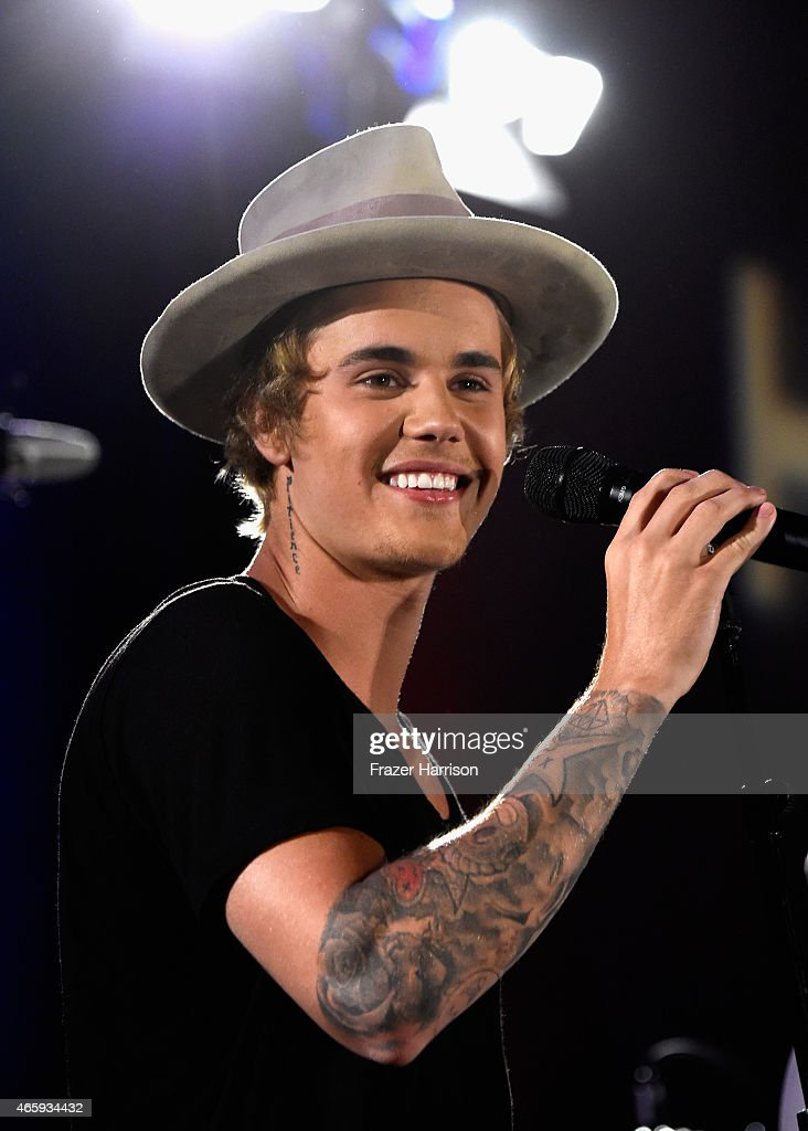 Singer Justin Bieber performs at the 11th Annual Desert Smash Hosted By Will Ferrell Benefiting Cancer For College at La Quinta Resort and Club on March 10, 2015 in La Quinta, California.
