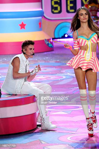Singer Justin Bieber performs during the Victoria's Secret 2012 Fashion Show on November 7 2012 in New York City
