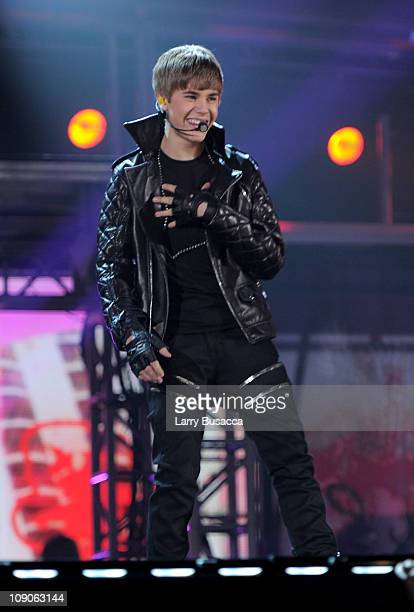 Singer Justin Bieber performs onstage at The 53rd Annual GRAMMY Awards held at Staples Center on February 13, 2011 in Los Angeles, California.