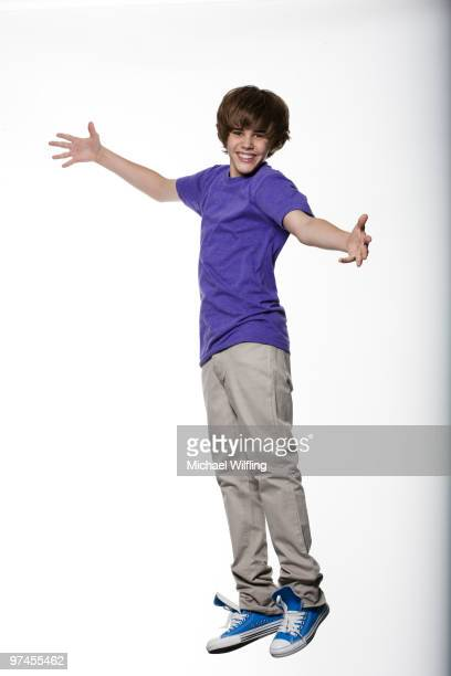 Singer Justin Bieber poses for a portrait shoot in Munich on August 19 2009