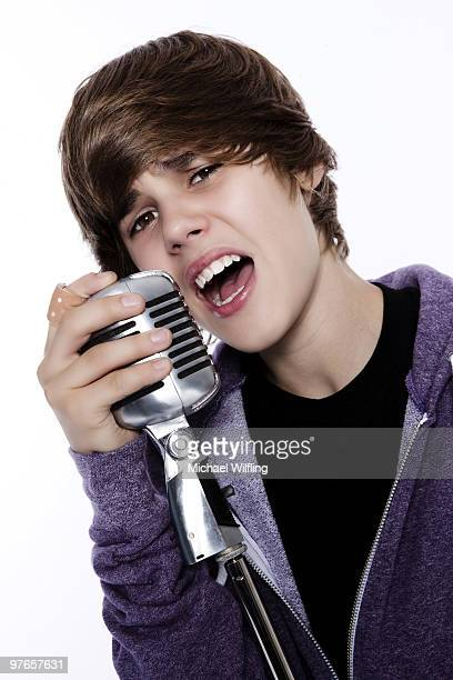 Singer Justin Bieber poses for a portrait shoot in Munich on August 21 2009