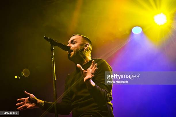 Singer Justin Furstenfeld of the American band Blue October performs live during a concert at the Huxleys on March 8 2017 in Berlin Germany