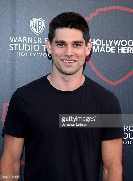 Singer Justin Gaston attends the Warner Bros Studio Tour Hollywood Expansion Official Unveiling Stage 48 Script To Screen at Warner Bros Studios on...