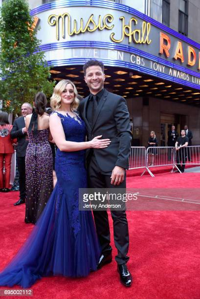 Singer Justin Guarini attends the 2017 Tony Awards at Radio City Music Hall on June 11 2017 in New York City