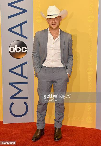 Singer Justin Moore attends the 50th annual CMA Awards at the Bridgestone Arena on November 2 2016 in Nashville Tennessee