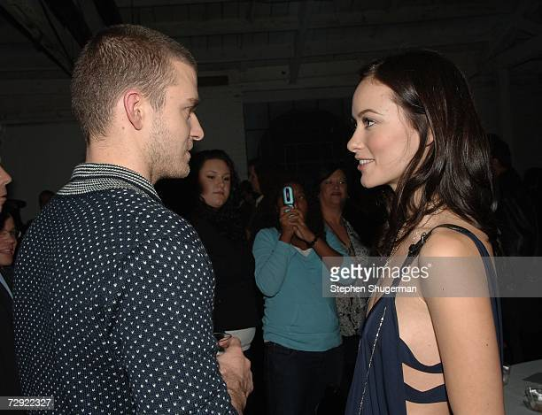 Singer Justin Timberlake and actor Olivia Wilde attend the after party following the premiere of Universal Pictures' Alpha Dog at the Cinerama Dome...