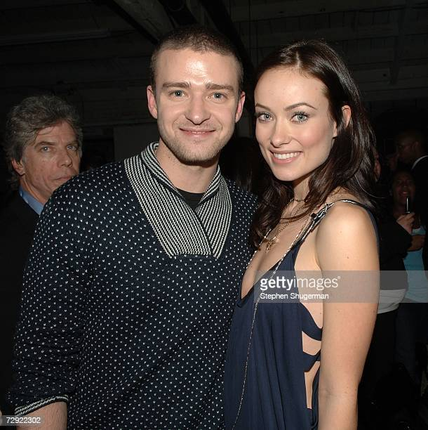 Singer Justin Timberlake and actress Olivia Wilde attend the after party following the premiere of Universal Pictures' Alpha Dog at the Cinerama Dome...
