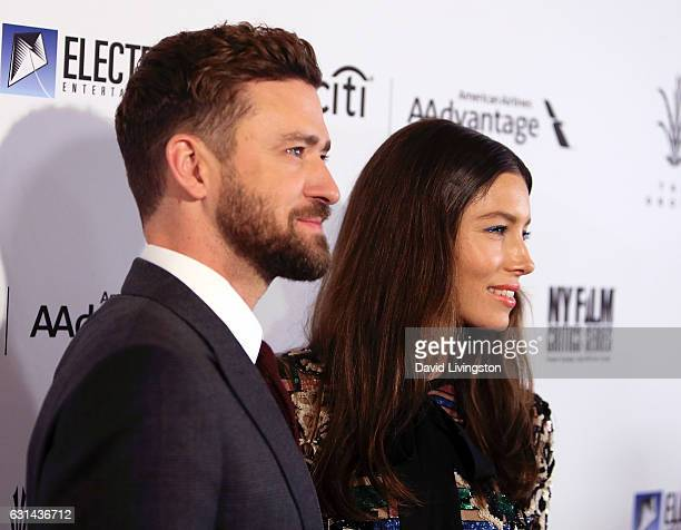 Singer Justin Timberlake and wife actress Jessica Biel attend the premiere of Electric Entertainment's 'The Book of Love' at The Grove on January 10...