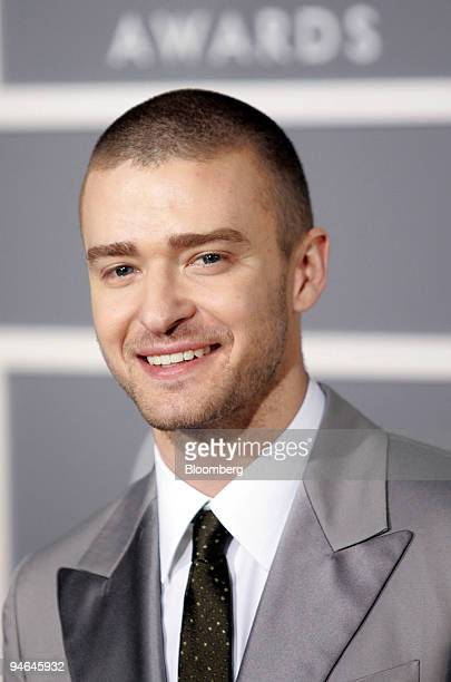 Singer Justin Timberlake arrives at the 49th Grammy Awards at the Staples Center in Los Angeles California on Sunday Feb 11 2007