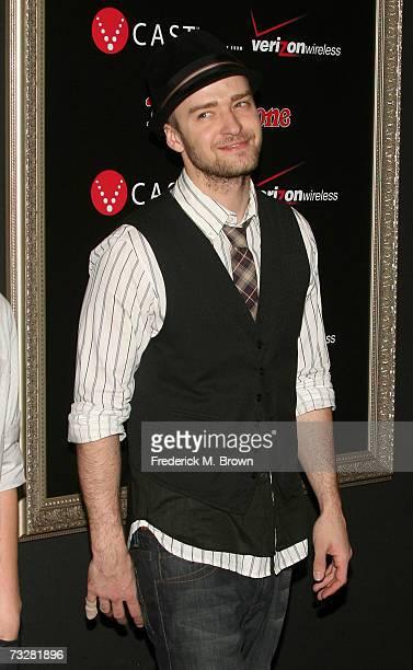 Singer Justin Timberlake arrives at the Justin Timberlake performance celebrating JTTV presented by Verizon Wireless Rolling Stone magazine held at...