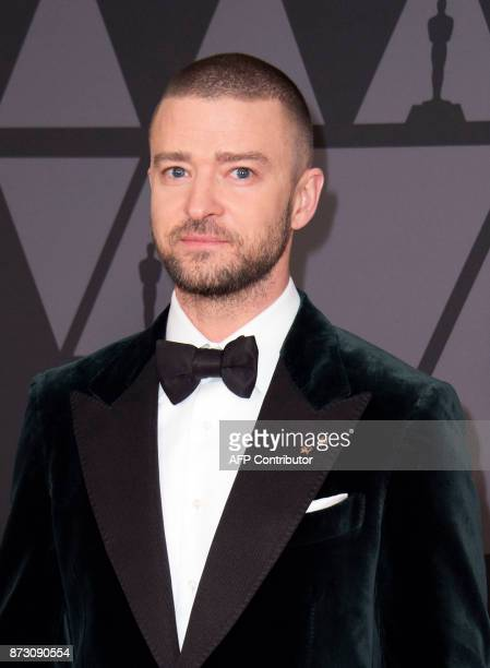 Singer Justin Timberlake attends the 2017 Governors Awards on November 11 in Hollywood California / AFP PHOTO / VALERIE MACON