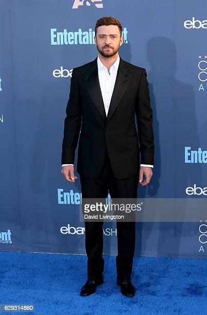 Singer Justin Timberlake attends the 22nd Annual Critics' Choice Awards at Barker Hangar on December 11 2016 in Santa Monica California