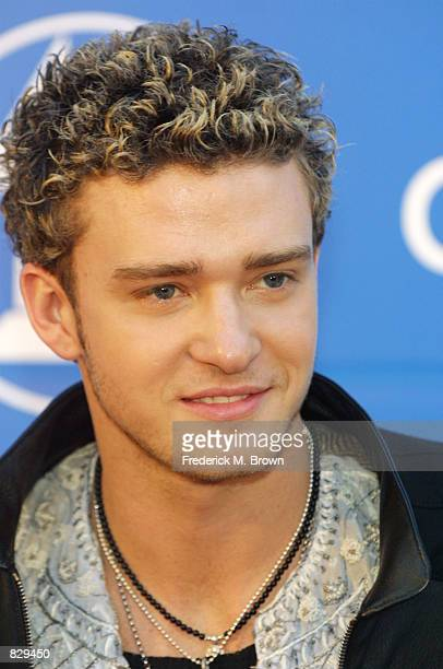 ''NSYNC singer Justin Timberlake attends the 44th Annual Grammy Awards at Staples Center February 27 2002 in Los Angeles CA