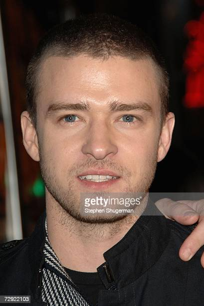 Singer Justin Timberlake attends the premiere of Universal Pictures' Alpha Dog at the Cinerama Dome on January 3 2007 in Hollywood California