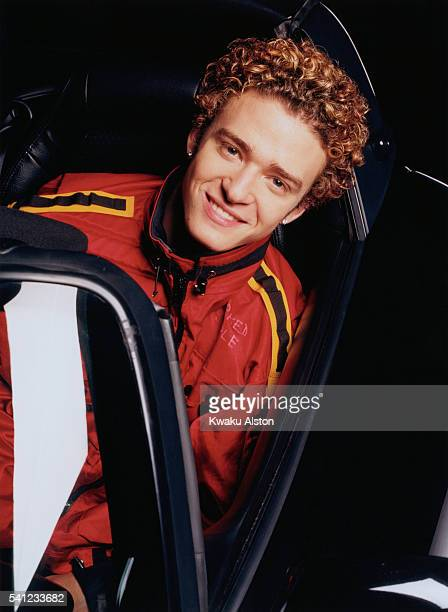 Justin Timberlake in a Sports Car