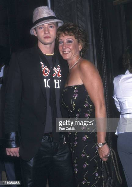 Singer Justin Timberlake of NSYNC and mother Lynn Harless attend the 19th Annual MTV Video Music Awards After Party Hosted buy Guy Oseary on August...