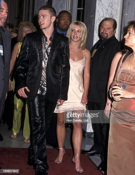 Singer Justin Timberlake of N'Sync and singer Britney Spears attend A Family Celebration Second Annual Gala on April 1 2001 at Beverly Wilshire Hotel...