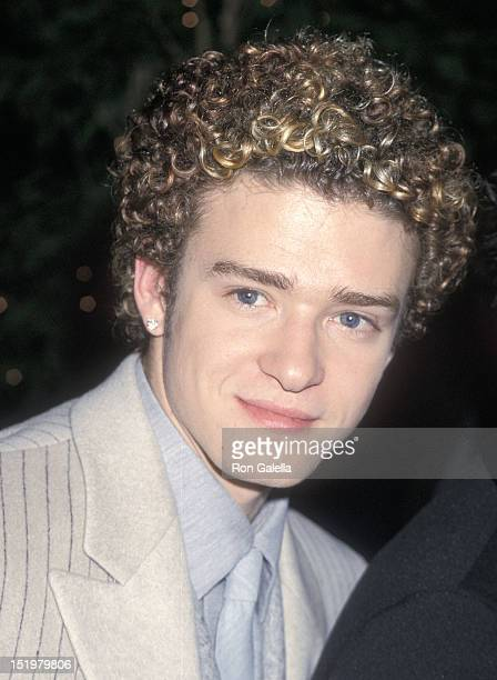 Singer Justin Timberlake of NSYNC attends the 42nd Annual Grammy Awards PreParty Hosted by Clive Davis on February 22 2000 at the Beverly Hills Hotel...