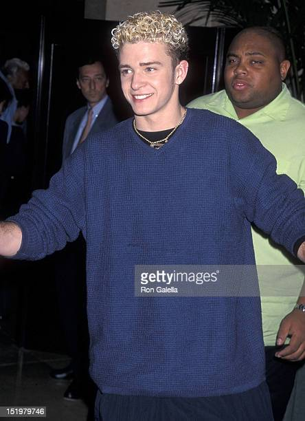 Singer Justin Timberlake of NSYNC attends the Children's Institute International's Champions of Children Gala Salute to Stephen F Bollenbach on...