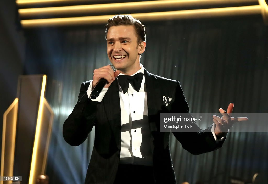Singer Justin Timberlake onstage during the 55th Annual GRAMMY Awards at STAPLES Center on February 10, 2013 in Los Angeles, California.