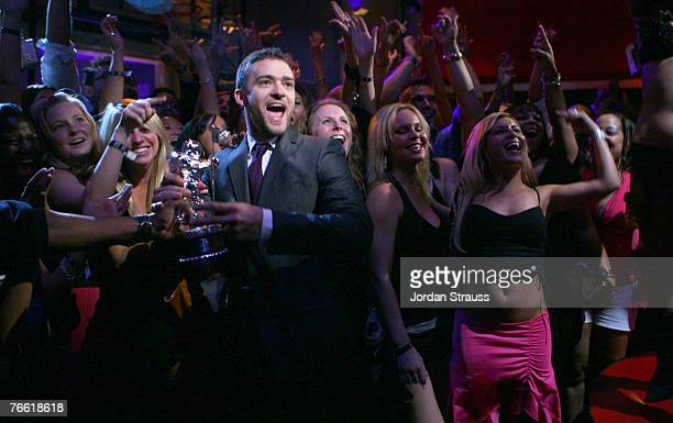 Singer Justin Timberlake performs during the 2007 MTV Video Music Awards at The Palms Hotel and Casino on September 9, 2007 in Las Vegas, Nevada.
