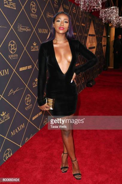 Singer Justine Skye attends the 2017 MAXIM Hot 100 Party at Hollywood Palladium on June 24 2017 in Los Angeles California