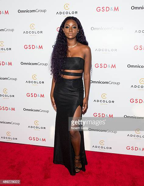 Singer Justine Skye attends the 9th Annual ADCOLOR Awards at Pier Sixty at Chelsea Piers on September 19 2015 in New York City