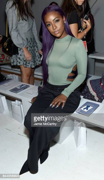 Singer Justine Skye attends the Chromat fashion show during New York Fashion Week The Shows at Gallery 3 Skylight Clarkson Sq on September 8 2017 in...