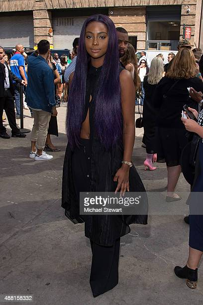 Singer Justine Skye is seen in the Garment District on September 13 2015 in New York City