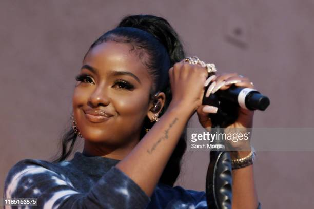 Singer Justine Skye performs at the 2019 Teen Vogue Summit at Goya Studios on November 02, 2019 in Hollywood, California.
