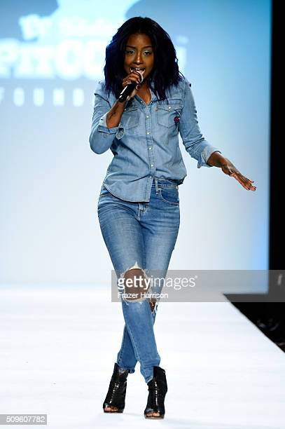 Singer Justine Skye performs at the Rookie USA Presents Kids Rock Fall 2016 fashion show during New York Fashion Week The Shows at The Dock Skylight...