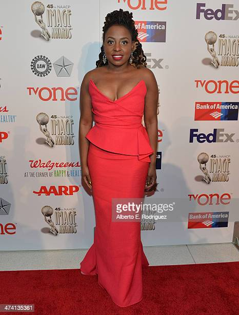 Singer K Michelle attends the 45th NAACP Awards NonTelevised Awards Ceremony at the Pasadena Civic Auditorium on February 21 2014 in Pasadena...