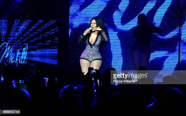 Singer K Michelle performs at the K Michelle concert at Fox Theater on March 12 2015 in Atlanta Georgia