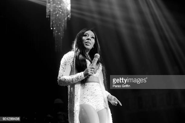Singer K Michelle performs in concert at The Tabernacle on February 25 2018 in Atlanta Georgia