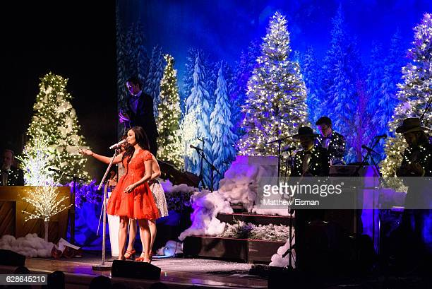 Singer Kacey Musgraves performs live on stage for the 'A Very Kacey Christmas Tour' at Town Hall on December 8 2016 in New York City