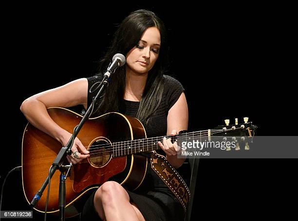Singer Kacey Musgraves performs onstage during All For The Hall Los Angeles A benefit concert presented by The Country Music Hall of Fame And Museum...