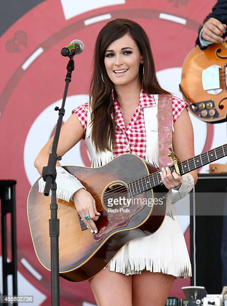 Singer Kacey Musgraves performs onstage during the 2014 iHeartRadio Music Festival Village on September 20 2014 in Las Vegas Nevada