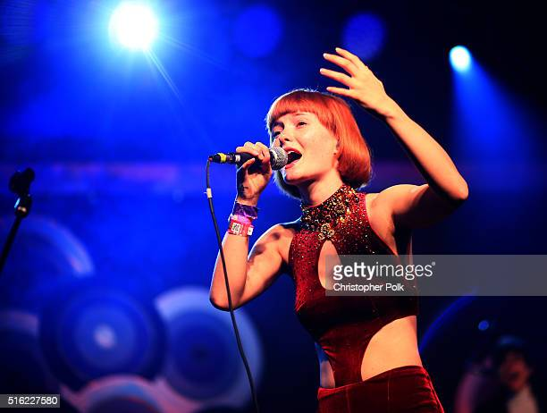 Singer Kacy Hill performs at Music Is Universal Styldby Gap presented by Marriott Rewards and Universal Music Group during SXSW at the JW Marriott...