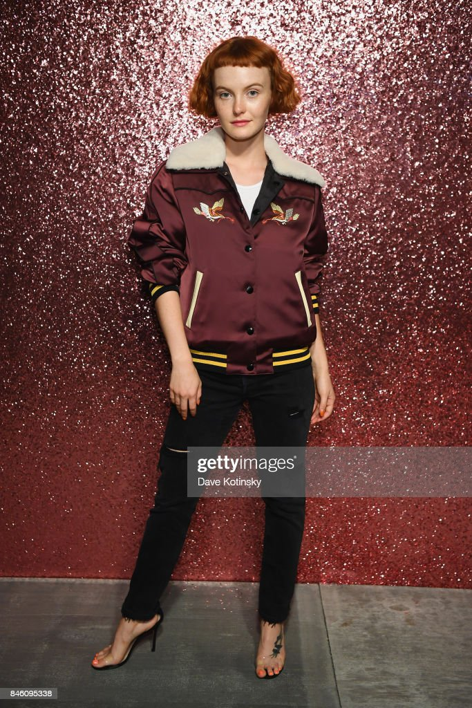 Singer Kacy Hill poses for a portrait during Coach Spring 2018 Fashion Show during New York Fashion Week at Basketball City - Pier 36 - South Street on September 12, 2017 in New York City.