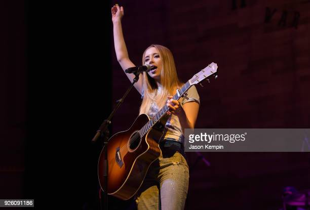 Singer Kalie Shorr performs at War Memorial Auditorium on March 1 2018 in Nashville Tennessee