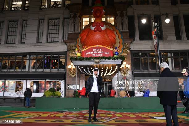 Singer Kane Brown performs during the 92nd Annual Macy's Thanksgiving Day Parade day two of rehearsals on November 20 2018 in New York City