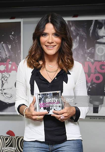 Singer Kany García attends a press conference to promote her new album En Vivo at Sony Music on November 5 2014 in Mexico City Mexico