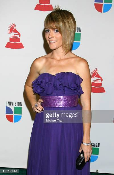 Singer Kany Garcia arrives at the 9th Annual Latin Grammy Awards held at Toyota Center on November 13 2008 in Houston Texas