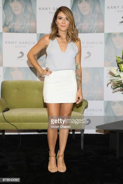 Singer Kany Garcia attends a press conference and performs a showcase during the launch of her new album Soy Yo at Hotel Presidente Intercontinental...
